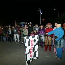 Pelepasan peserta pawai takbir Idul Adha