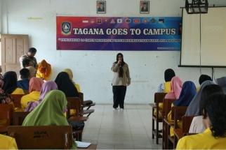 Kabid Linjamsos Hanizar Saat Membuka Kegiatan Tagana Goes To Campus di Stisipol Raja Ali Haji