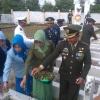 Dandim Pimpin HUT TNI di Makam Pahlawan