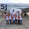HUT ke-15 Tahun, Maskapai Sriwijaya Air Bawa Anak Yatim Tamasya