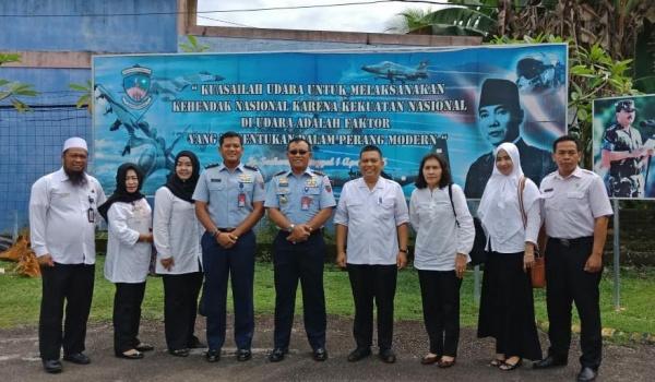 Bahas Program, Doli Bawa Tim Dinsos Kepri Temui Danlanud Tanjungpinang
