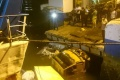Pintu Kapal Patah, Ini Dia Penampakan Truk Nyemplung ke Laut di Bintan