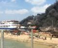 Ini Dia, Video Detik-detik Kapal RoRo Sembilang Terbakar
