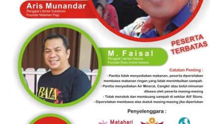 Ikut Menjadi Pendukung Pelatihan Literasi, Faisal: Terima Kasih hariankepri