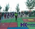 Manfaatkan Pantai Piwang, MPC PP Natuna Bikin Program Senam Bulanan