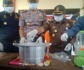 Disaksikan PN dan Kejari, Polres Bintan Musnahkan Sabu