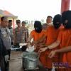 Tiga Tersangka Rebus Sabu di Mapolres Bintan