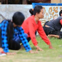 9. Para pelajar turut serta melestarikan.