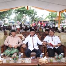 Dari Kanan, Plt Kadisparbud Tanjungpinang Raja Kholidin S Sos, Wakil Wali Kota Tanjungpinang H Syahrul SPd dan pejabat lainnya.