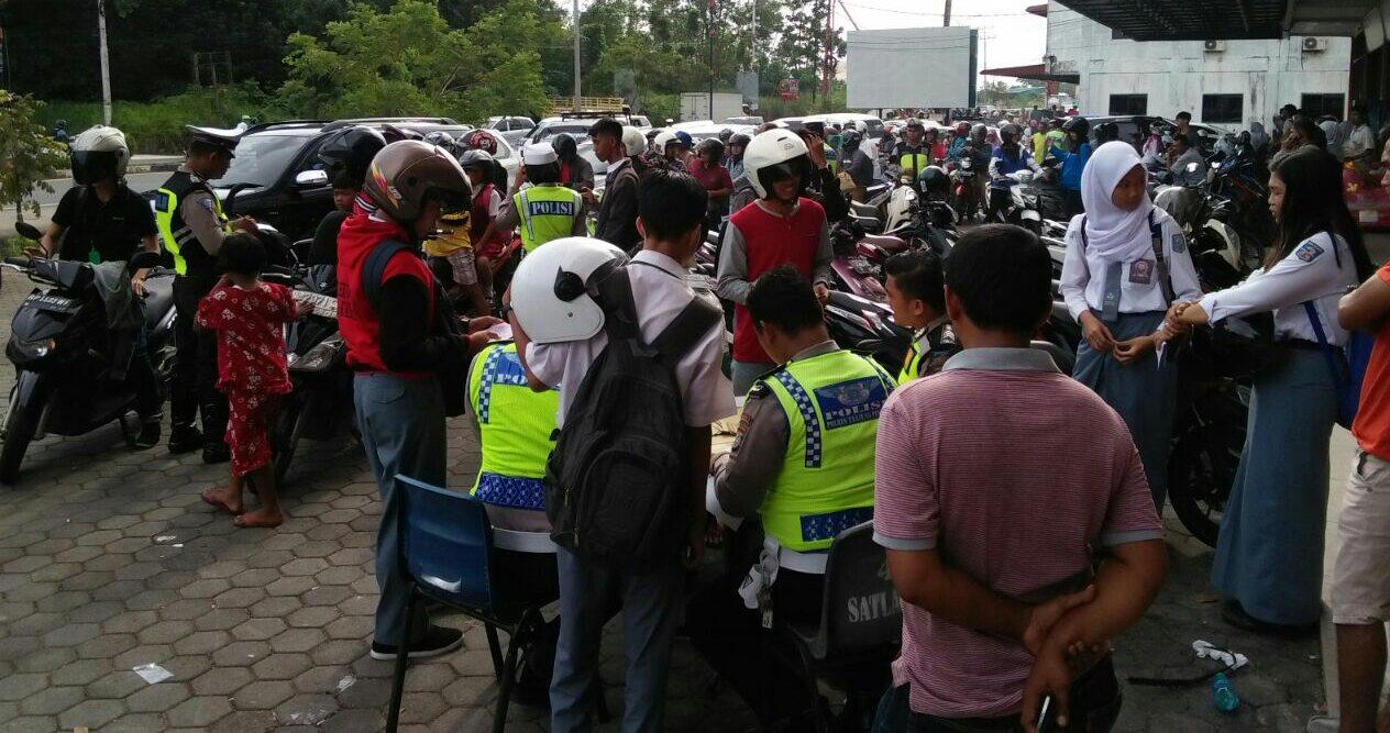 Puluhan Sepeda Motor Terjaring Razia