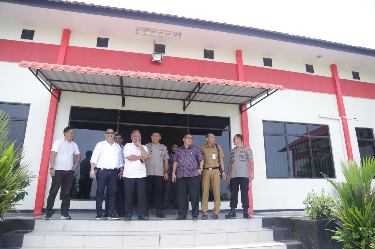 Komisi III DPRD Kepri Tinjau Pembangunan Sarana Prasarana Mako Brimob