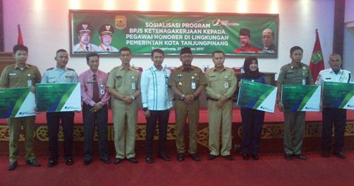 Honorer Pemko Tanjungpinang dilindungi BPJS Ketenagakerjaan