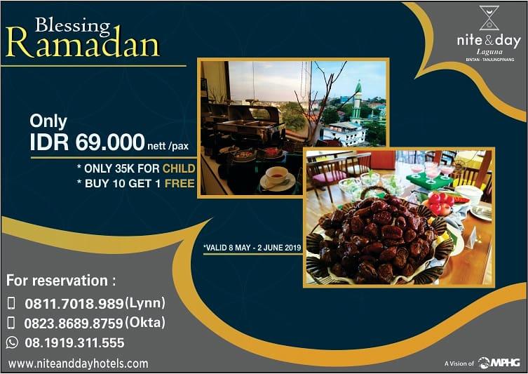 Paket Ramadan di Nite and Day Laguna Hotel, Rp 69 Ribu Buka Puasa Sepuasnya