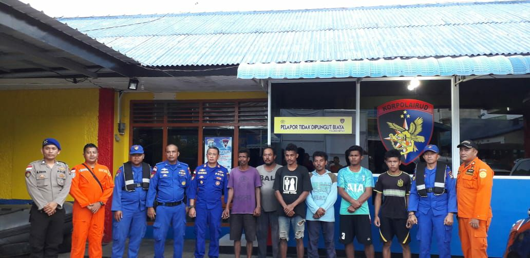 Ombak 4 Meter Tenggelamkan Kapal Berkat Jaya, 6 ABK Ditemukan Selamat
