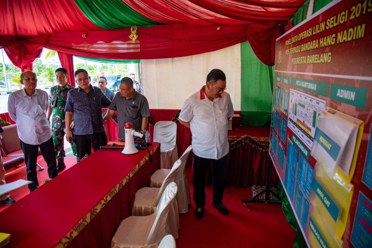 Komisi III DPRD Kepri Sidak Angkutan Natal dan Tahun Baru di Hang Nadim