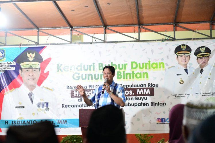 Isdianto: Pemprov Siap Bantu Kembangkan Durian Bintan