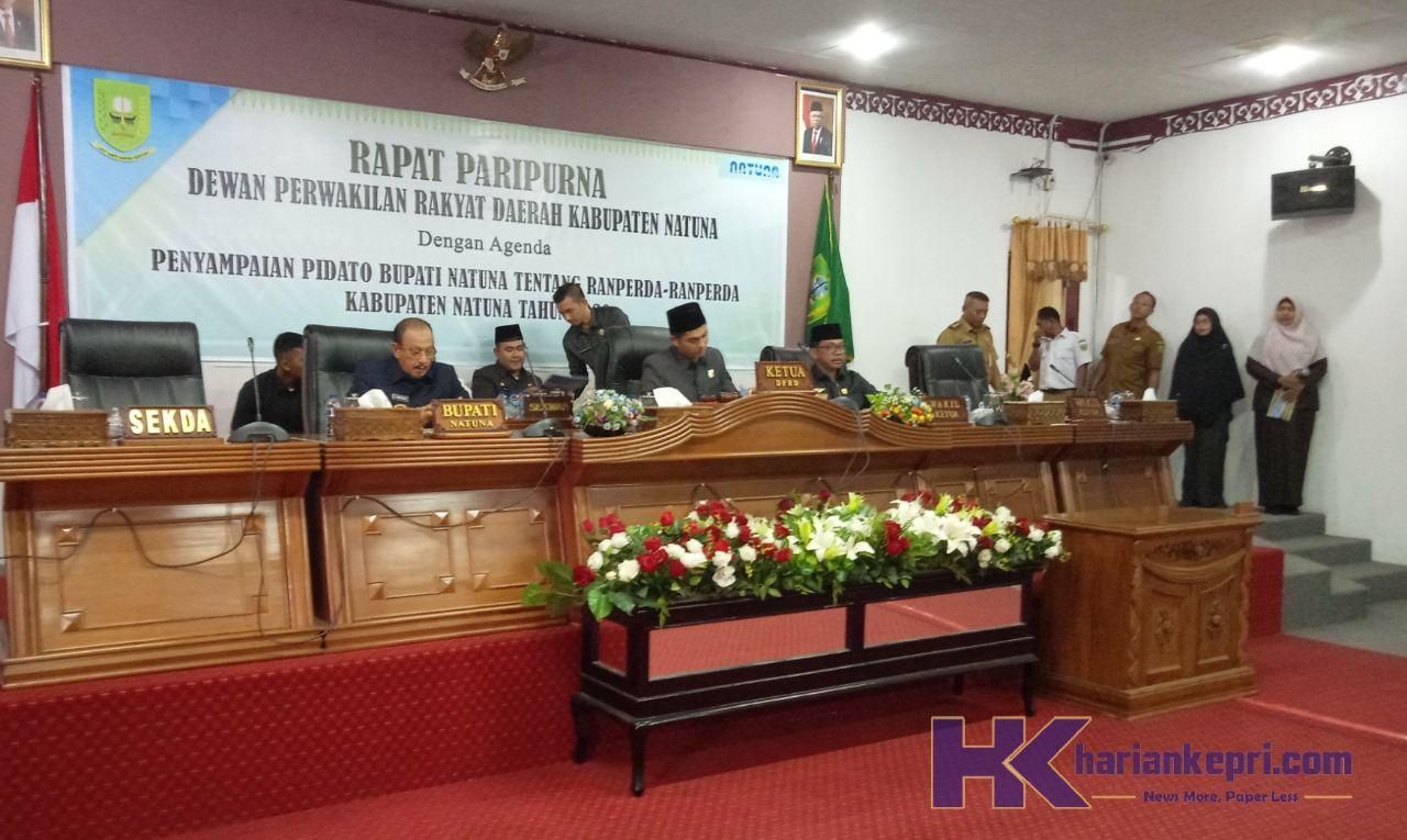 DPRD Gelar Paripurna Penyampaian 5 Ranperda dari Pemkab Natuna