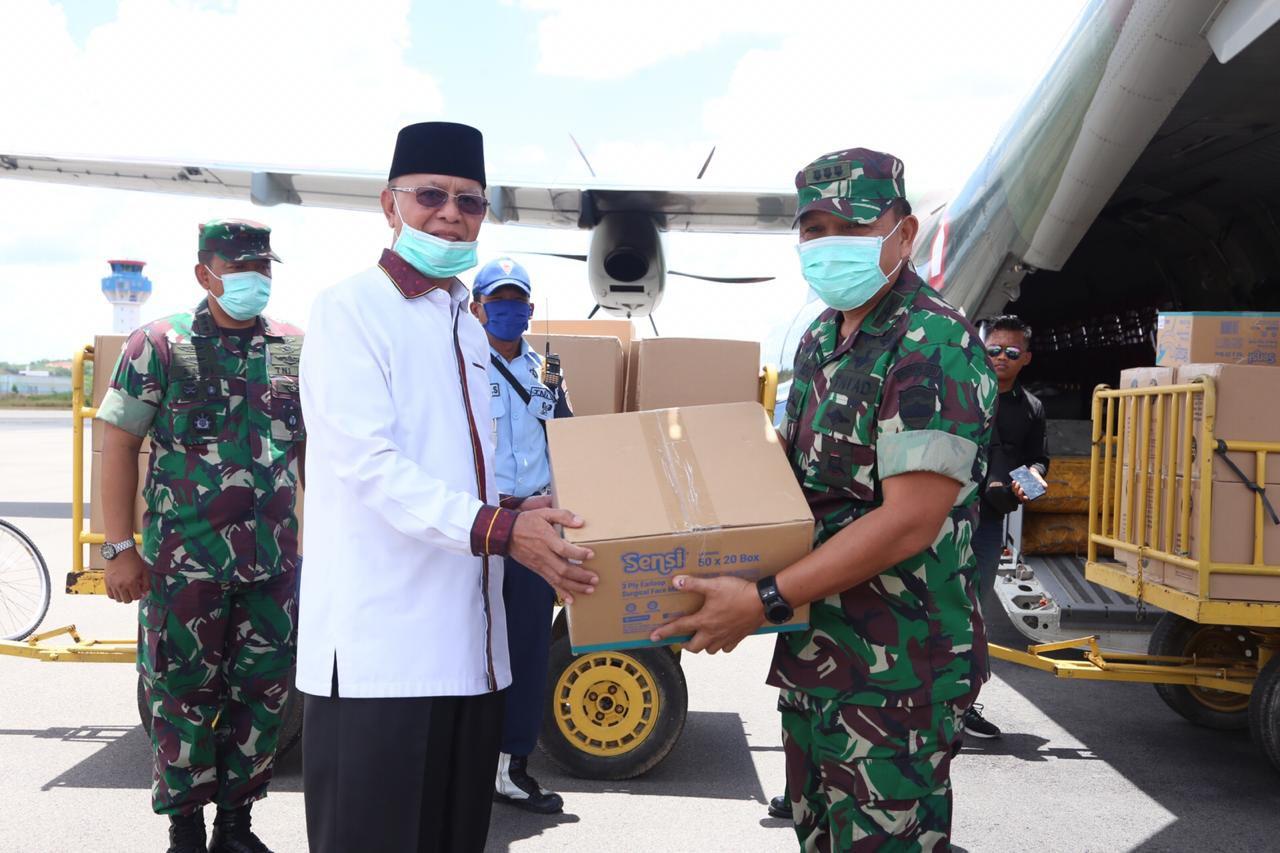 Diterima Syahrul, Pemko Dapat Bantuan Ribuan Masker dan 150 APD dari Mabes TNI