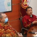 Kabinda Kepri Brigjen Pol Riza Celvian Gumay bersama Wakil Ketua III DPRD Kepri, Afrizal Dahlan