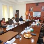 Suasana audiensi yang dipimpin Wakil Ketua III DPRD Kepri bersama Kabinda Kepri