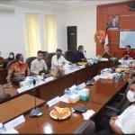 Suasana pertemuan antara Komisi I DPRD Kepri dengan Kabinda Kepri