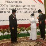 Gubernur Kepri, Isdianto bersama Wali Kota Tanjungpinang, Rahma dan Wali Kota Batam, HM Rudi