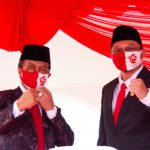 Ketua DPRD Kepri, Jumaga Nadeak bersama Wakil Ketua II DPRD Kepri, Raden Hari Tjahyono