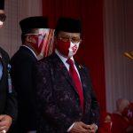 Ketua DPRD Kepri, Jumaga Nadeak saat mengikuti jalannya peringtaan HUT ke 75 Kemerdekaan RI