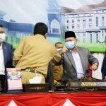 Pimpinan DPRD Kepri saat menyapa Pjs Gubernur Kepri, Bahtiar Baharuddin