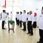 Proses pengukuhan pengurus PMI se Kabupaten Lingga oleh Gubernur Kepri, Isdianto