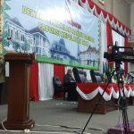 Sekdaprov Kepri Arif Fadillah saat menyampaikan jawaban pemerintah atas pandum fraksi