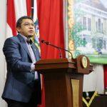 Wakil Ketua II DPRD Kepri, Raden Hari Tjahyono saat menyampaikan laporan banggar